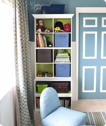 boys room shelves