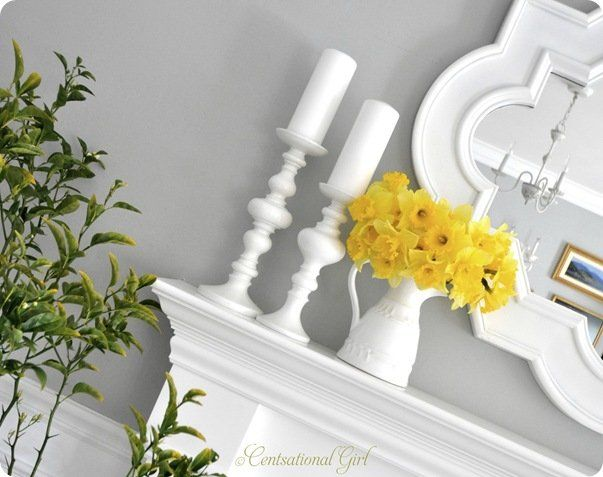 cg daffodils and candlesticks