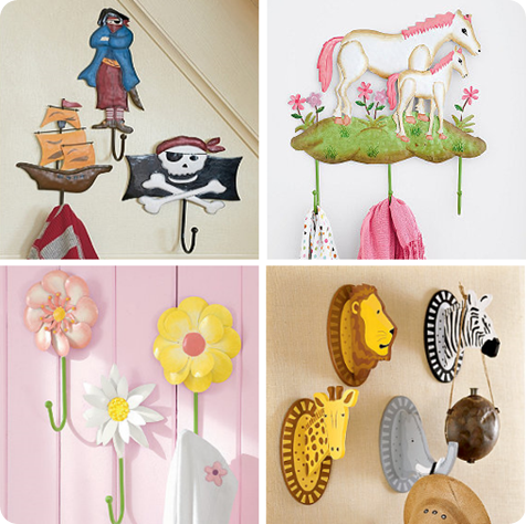 Tips for organizing kid spaces centsational style for Kids room hooks