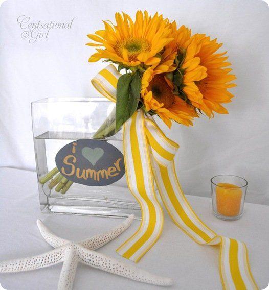 cg i love summer chalkboard vase