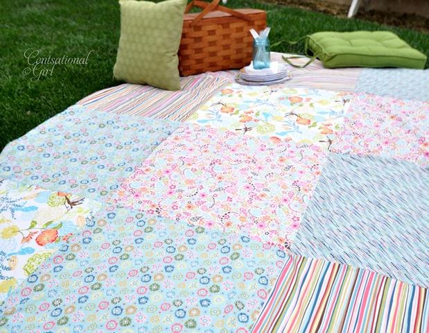 Diy Patchwork Picnic Blanket Centsational Girl