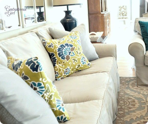 cg pillows in family room