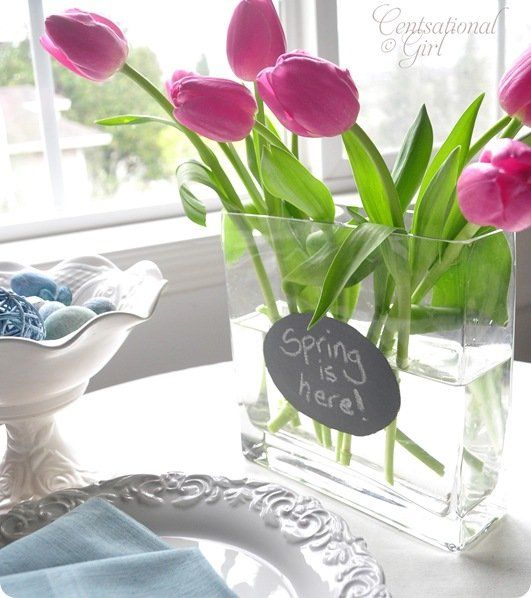 cg spring gray chalkboard vase