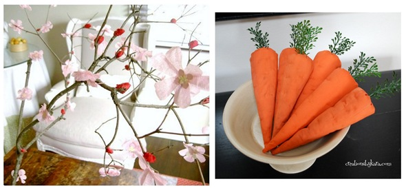 cherry blossoms and carrots