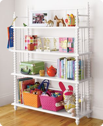 child's organized bookshelf LON