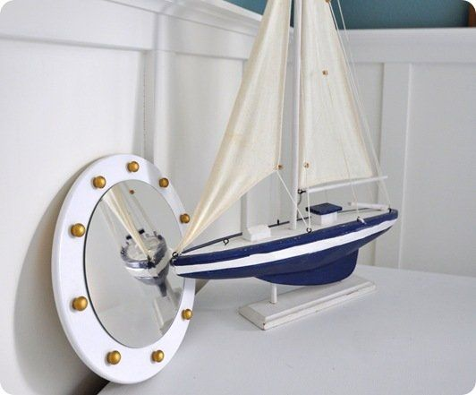 porthole mirror with boat