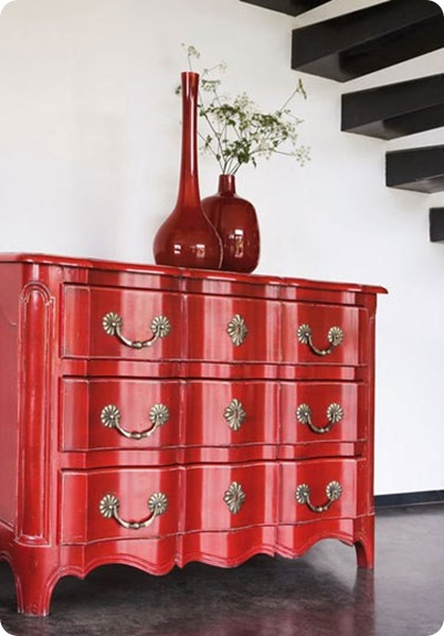 red dresser apartment therapy