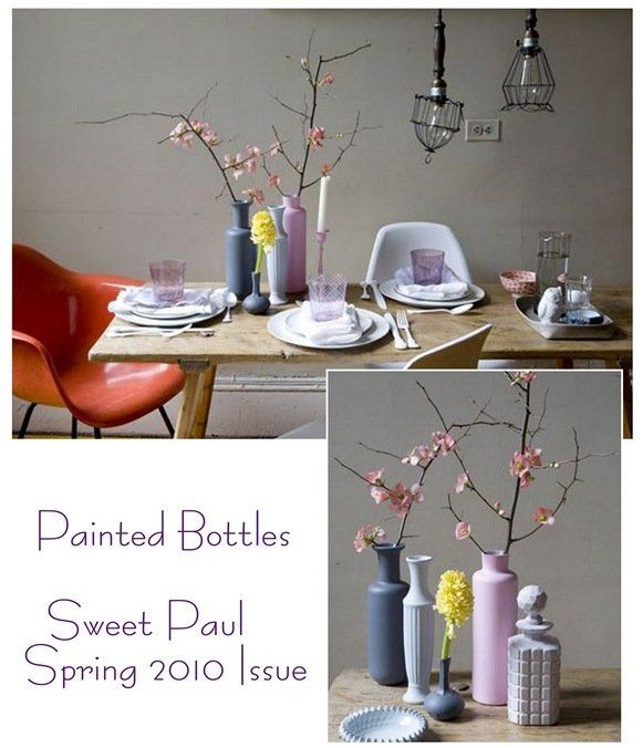 spring painted bottles sweet paul