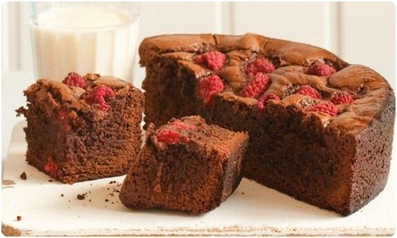 sweet paul raspberry brownies