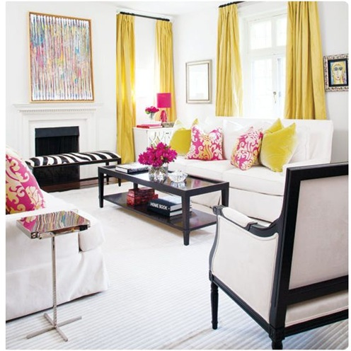 yellow and pink style at home