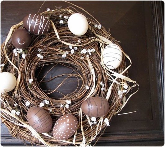 chocolate egg wreath