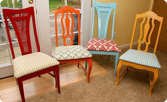colorful chairs rushartist
