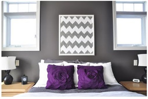 diy chevron art