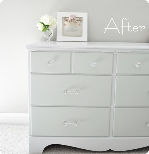 dresser after left side font. How to Paint Furniture   Centsational Style