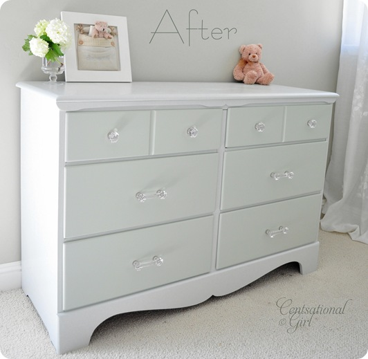 Two Tone Treasure + How to Paint Furniture | Centsational Girl