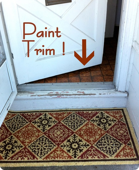 exterior paint front door mat