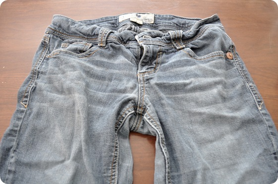 faded capri jeans before