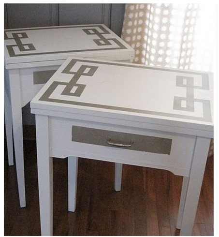 greek key nightstands