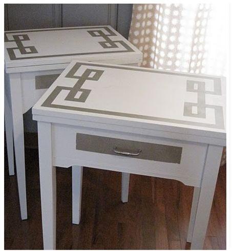 greek key nightstands