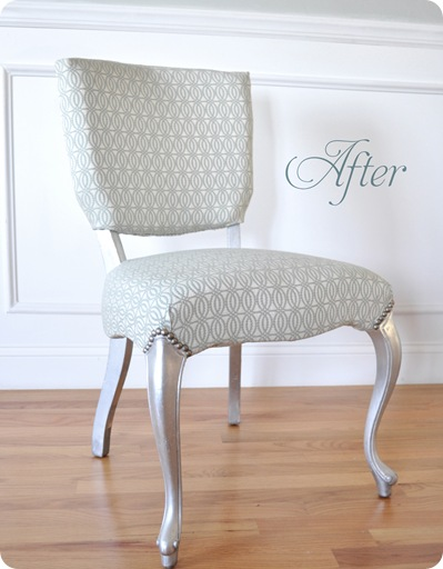 kates silver leaf chair after