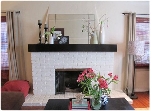 stained mantel pepper design