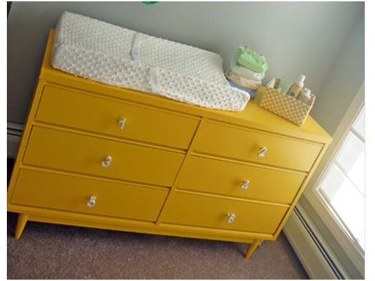 sunshine yellow dresser