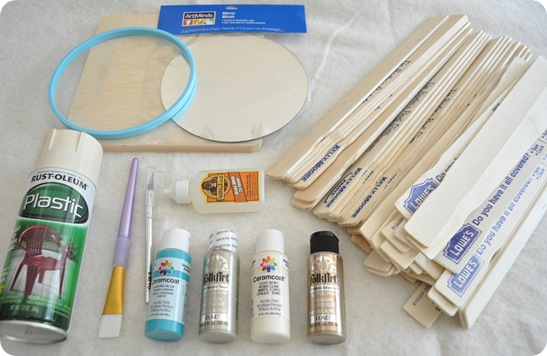 supplies for mirror