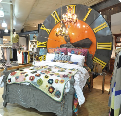 anthro clock headboard