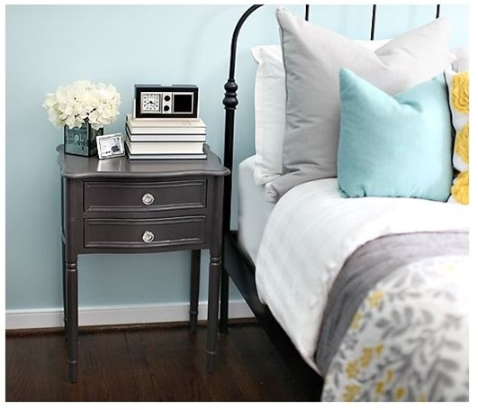 bedside table hooked on houses