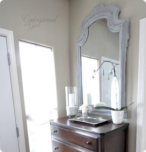 Chalk Paint Foyer Table : Chalk paint mirror centsational girl