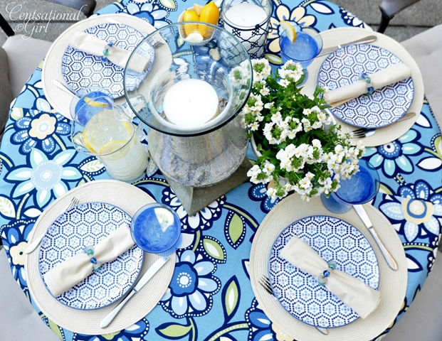A summer table outdoor ideas party centsational girl - Summer table setting ideas ...
