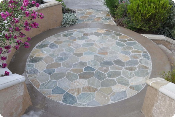 circle patio when wet