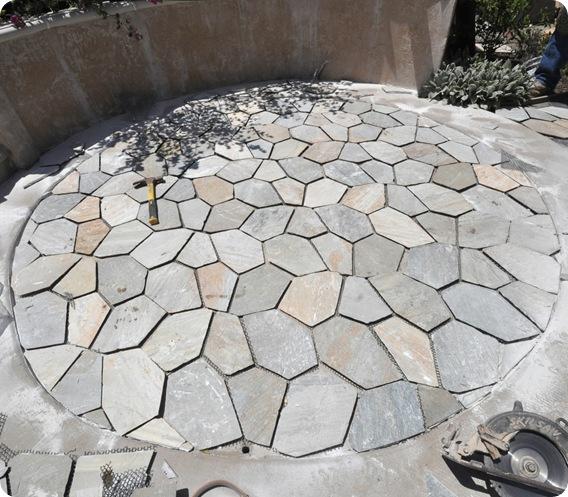 circular patio halfway
