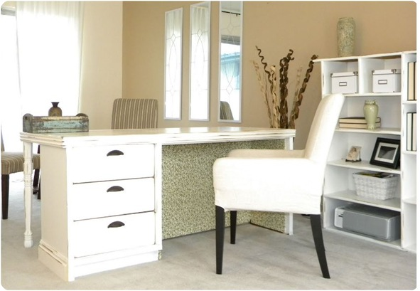 dresser turned desk thrifty and chic