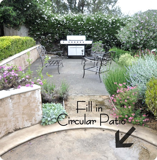 fill circular patio