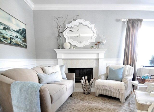 Sea inspired summer living room centsational style for Living room paint inspiration