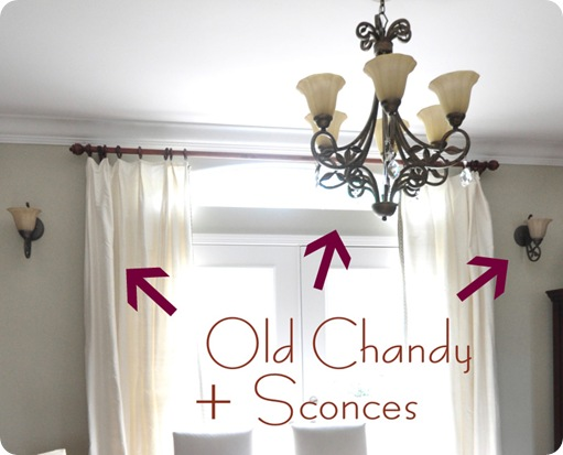 old chandy and sconces