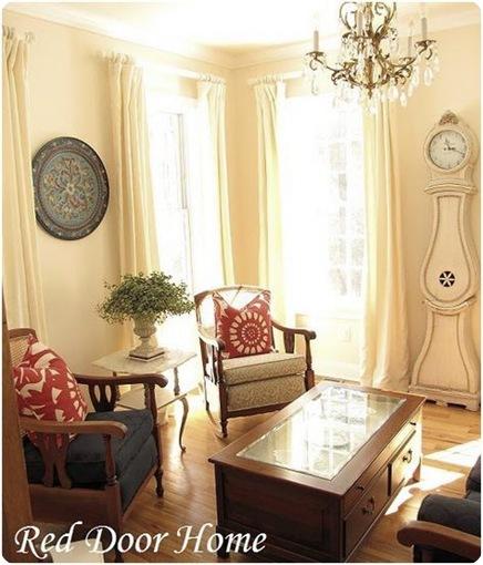 red door living room
