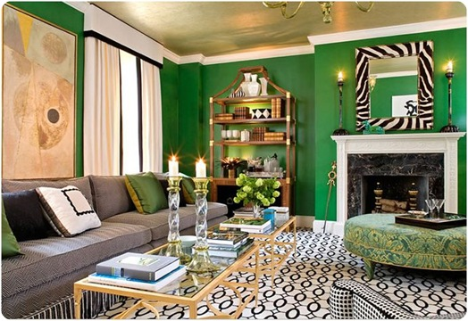 sherrill canet green living room