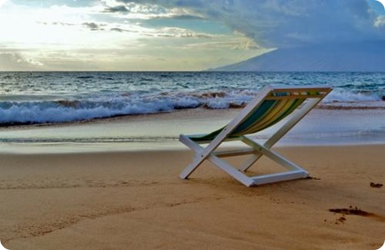 sling chair beach ana white