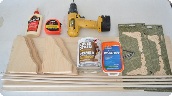 supplies for bracket shelves