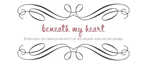 beneath my heart header