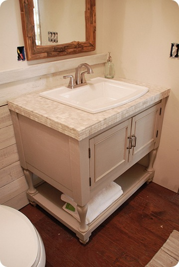 Botb 6 centsational style - How to make a bathroom vanity cabinet ...