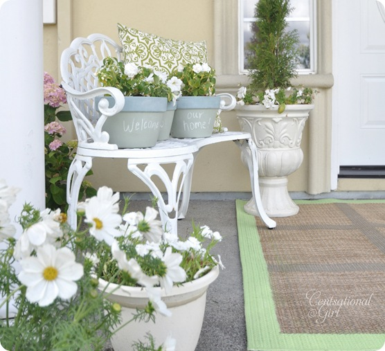 cg front porch green rug
