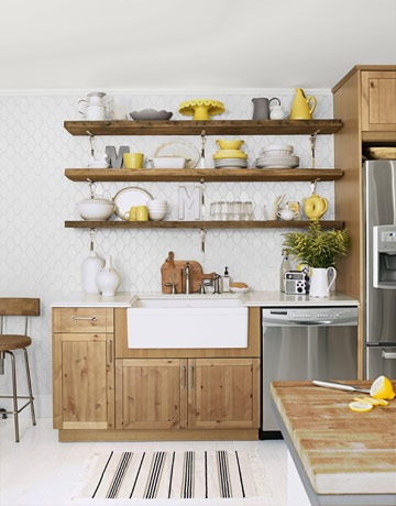 Timeless or trendy open shelving in kitchens Open shelving