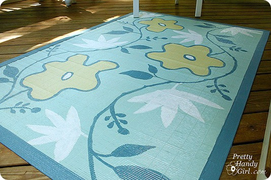 painted bamboo rug pretty handy girl
