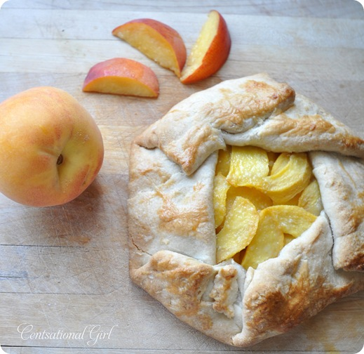 peach galette by kate