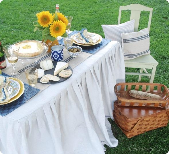 sonoma picnic tablescape cg