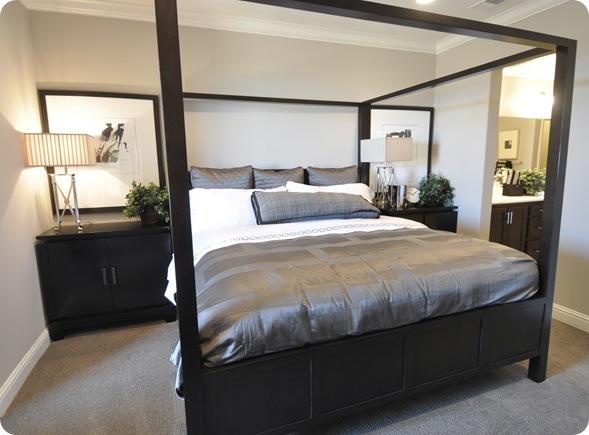black master bed