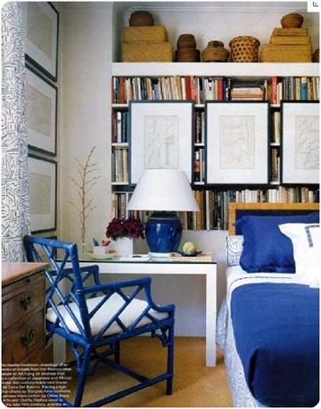 blue faux bamboo elle decor